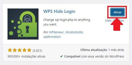 Ativar o WPS Hide Login: Plugin para alterar a URL da Página de Login do WordPress