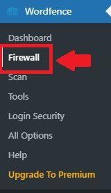 Selecionando as Configurações de Firewall