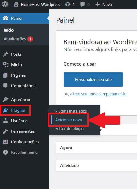 adicionar plugin no wordpress