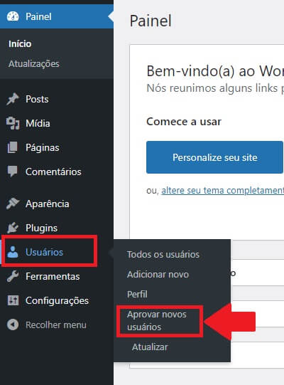 Moderação de Usuários no WordPress