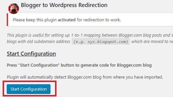 Clique no Botão Start Configuration