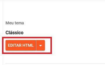 Clique no Botão Editar HTML