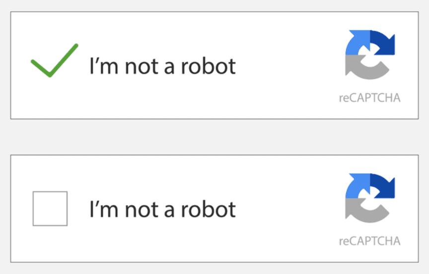Exemplo do Google reCaptcha v2