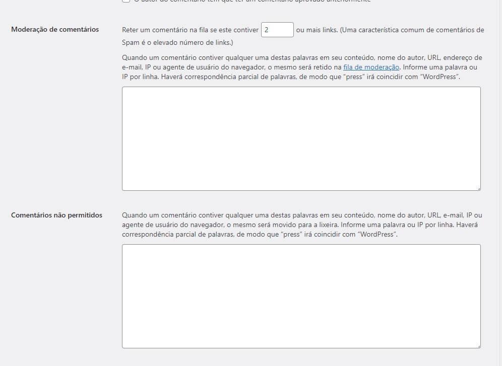Como Bloquear Comentários e Cadastros no WordPress: Lista Negra de Termos