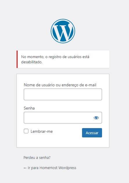 Bloquear Cadastros no WordPress