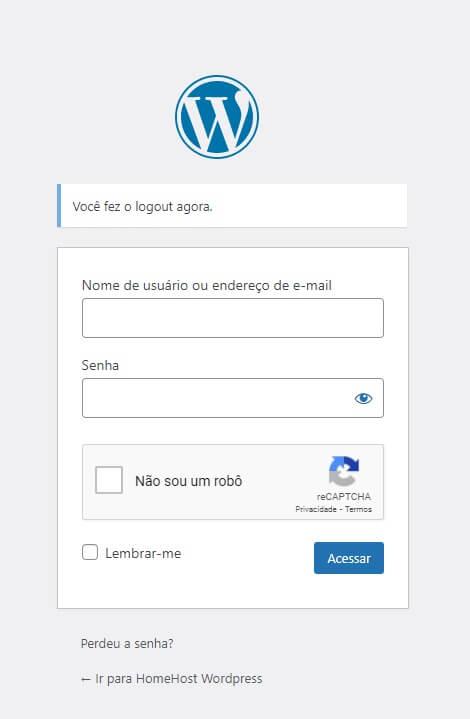 reCAPTCHA no Login do WordPress