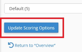 Botão update score Options
