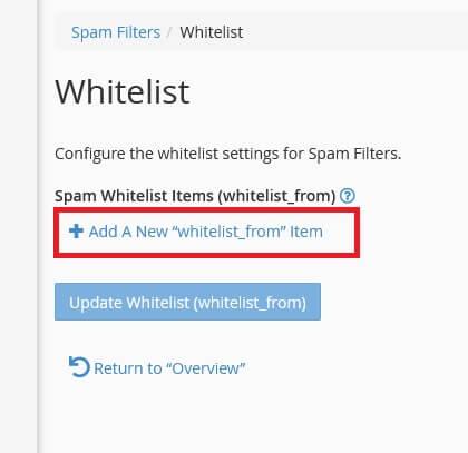 Criando uma Whitelist: lista Branca de Spams